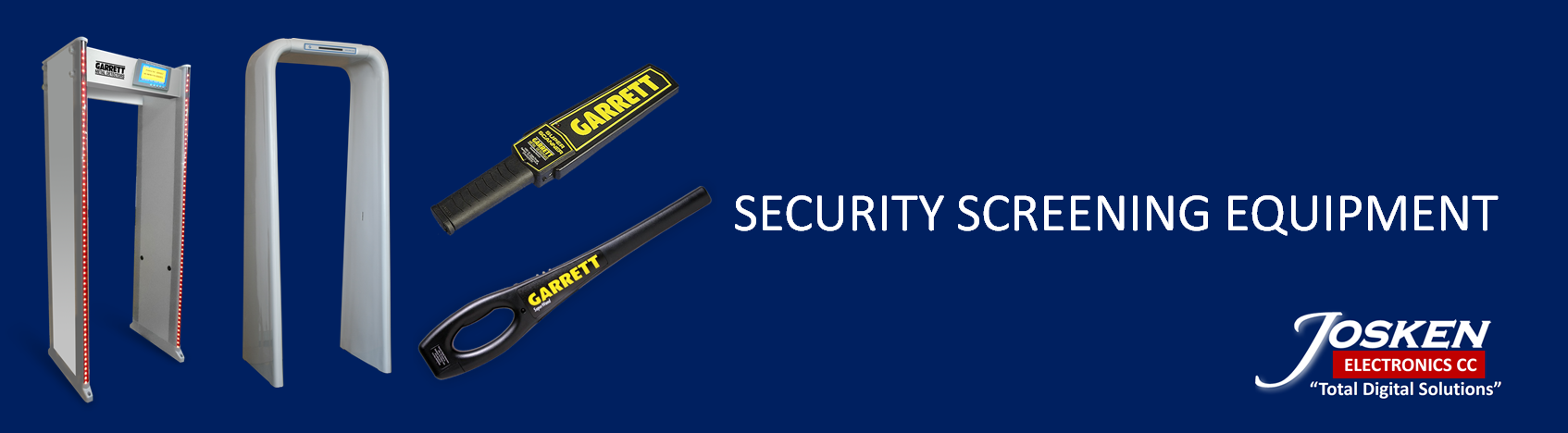 SECURITY SCREENING EQUIPMENT BANNER