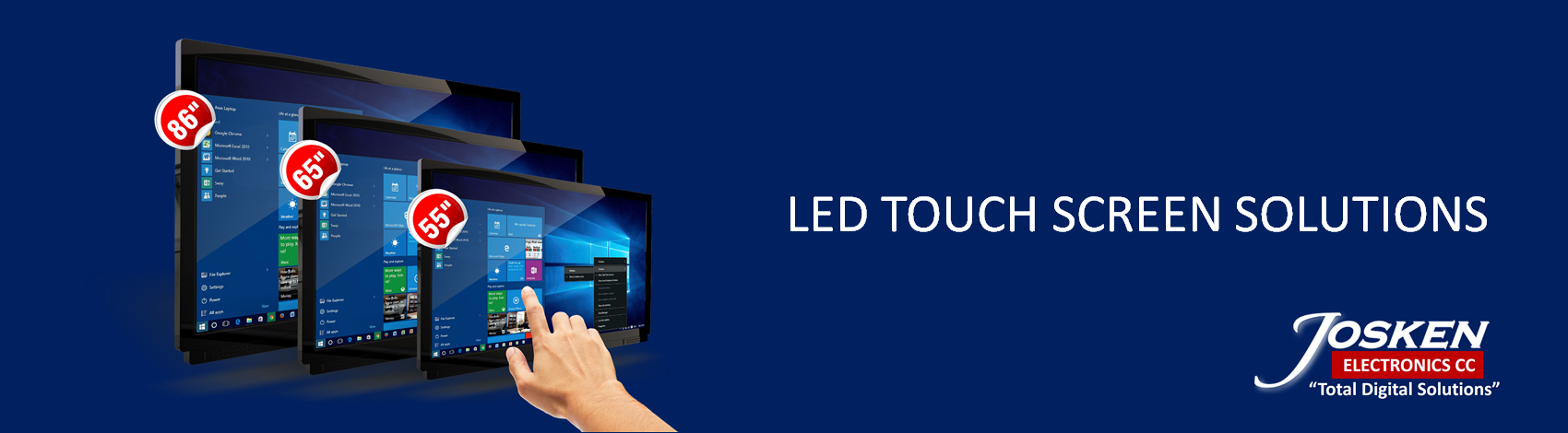 LED TOUCH SCREEN BANNER
